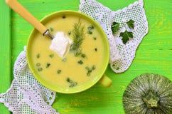 Zucchini cream soup. Stock Image
