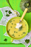 Zucchini cream soup. Stock Images
