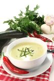 Zucchini creme soup Stock Photos