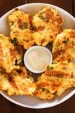 Zucchini croquettes Stock Image