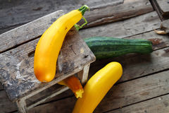 Zucchini and cucurbit. Royalty Free Stock Photos