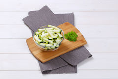 Zucchini cut into strips Royalty Free Stock Photos