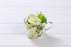 Zucchini cut into strips Royalty Free Stock Image