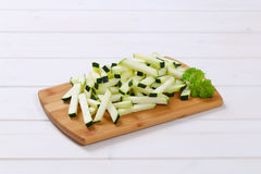 Zucchini cut into strips Stock Images