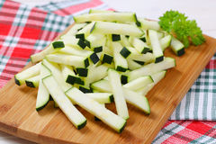 Zucchini cut into strips Stock Photography