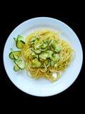 Zucchini degli spaghetti Fotografia Stock Libera da Diritti