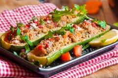 Zucchini enchido Imagens de Stock