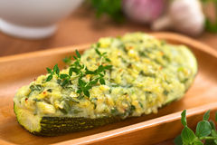 Zucchini enchido cozido Fotografia de Stock Royalty Free