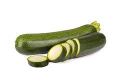 Zucchini för ny grönsak på vit bakgrund Royaltyfria Bilder