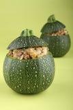 Zucchini farcito Immagine Stock