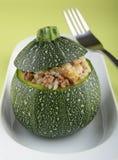 Zucchini farcito Fotografia Stock Libera da Diritti