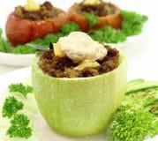 Zucchini farcito fotografie stock