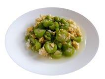 Zucchini fertanie Smażący z jajkiem Obraz Stock
