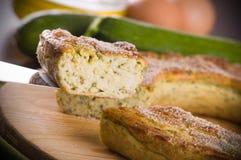Zucchini Flan. Lizenzfreies Stockfoto