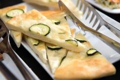 Zucchini flat bread stock photography