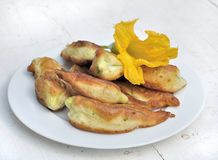 Zucchini flowers Stock Photography