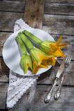 Zucchini Flowers Royalty Free Stock Photo