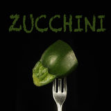 Zucchini on a  fork Royalty Free Stock Photography