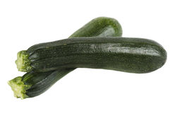 Zucchini. Fresh zucchini on white background stock photos