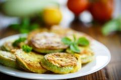 Zucchini fried in batter Stock Photo