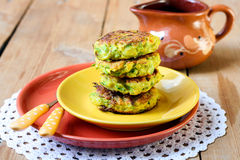 Zucchini fried cakes Royalty Free Stock Photography