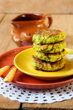 Zucchini fried cakes Royalty Free Stock Photos
