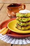 Zucchini fried cakes Stock Image