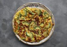 Zucchini Frittata Stock Image