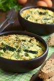 Zucchini Frittata Stock Photography