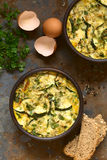 Zucchini Frittata Royalty Free Stock Photos