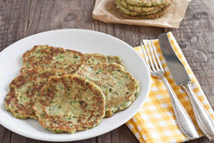 Zucchini fritter Royalty Free Stock Photo