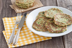 Zucchini fritter. Served on a plate Royalty Free Stock Photography