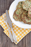 Zucchini fritter Stock Images