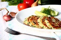 Zucchini fritters zdjęcie stock