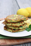Zucchini fritters Obrazy Royalty Free