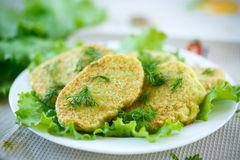 Zucchini fritters Royalty Free Stock Photography