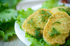 Zucchini fritters Stock Images