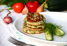 Zucchini fritters Stock Photography