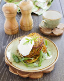 Zucchini fritters Royalty Free Stock Photo