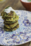 Zucchini Fritters Royalty Free Stock Photos