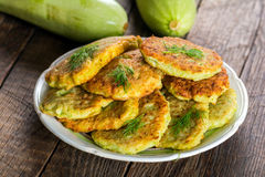 Zucchini fritters Royalty Free Stock Image
