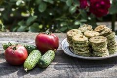Zucchini fritto Fotografia Stock Libera da Diritti