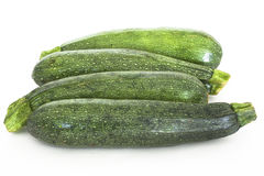 Zucchini. Green Zucchinis isolated against a white background Royalty Free Stock Photography