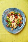 Zucchini grelhado com tomate foto de stock royalty free