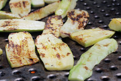 Zucchini on the grill Royalty Free Stock Photography
