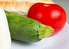 Zucchini grinder ingredients Stock Photography