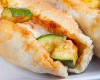 Zucchini grinder sandwich Stock Image