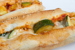 Zucchini grinder sandwich Stock Photo