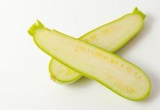 Zucchini in half Royalty Free Stock Image