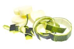 Zucchini isolated on white Stock Photos